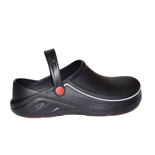 PROFESSIONAL SHOES (BLACK WITH WHITE STRIPE)